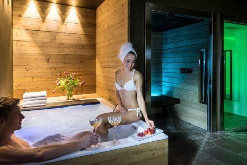 Benessere esclusivo nella private spa all'Hotel La Perla